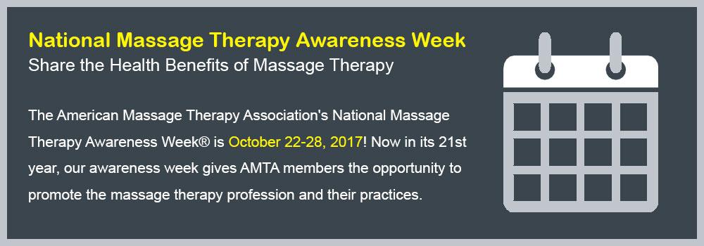 Massage Therapy Awareness Week
