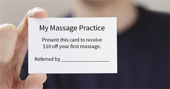 referral card for massage clients